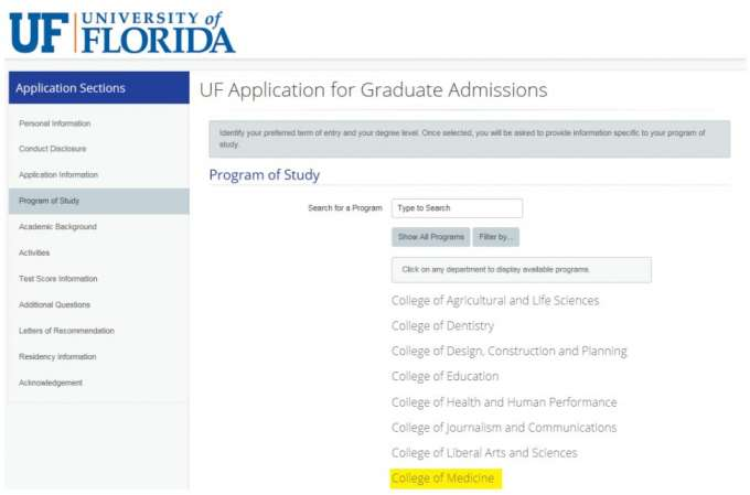 Uf College Of Medicine Letters Of Recommendation